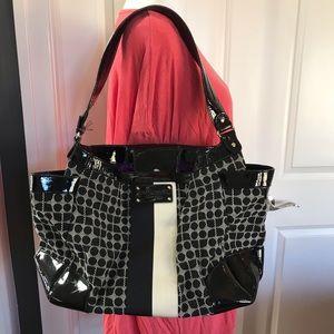 Kate spade black and white purse